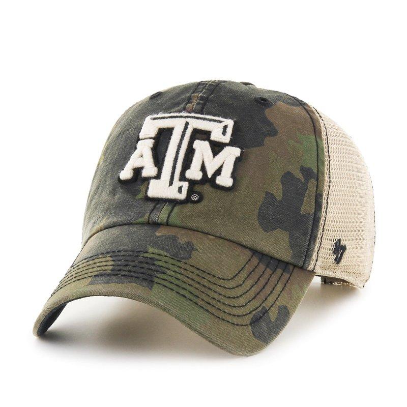 '47 Adults' Texas A&M University Burnett '47 Clean Up Camo Cap Green Dark/Light Green - NCAA Men's Caps at Academy Sports thumbnail