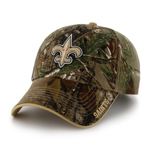 '47 Adults' New Orleans Saints Realtree Frost MVP Cap