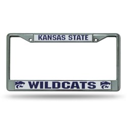 Rico Kansas State University Chrome License Plate Frame
