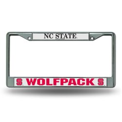 Rico North Carolina State University Chrome License Plate Frame
