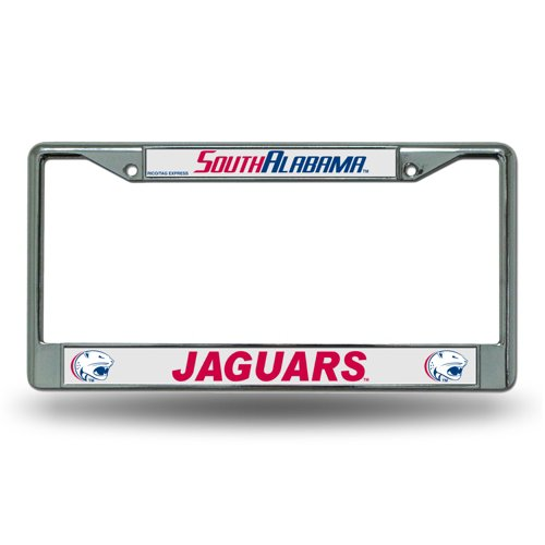 Rico University of South Alabama Chrome License Plate Frame