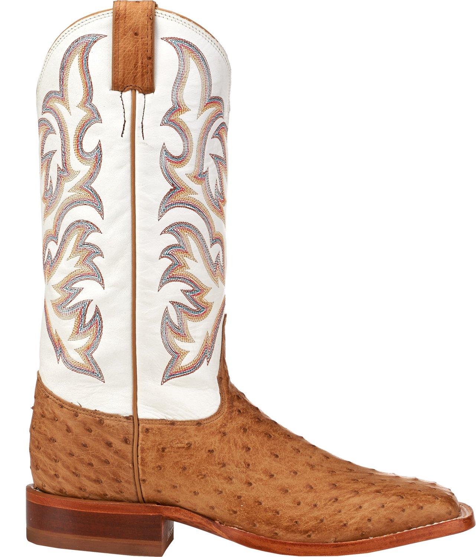 d4c3bafa06c Justin Men's Full Quill Ostrich AQHA Remuda Western Boots