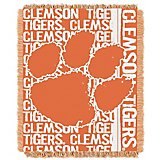 The Northwest Company Clemson University Double Play Woven Jacquard Throw