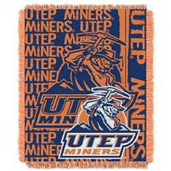 University of Texas at El Paso Double Play Triple-Woven Jacquard Throw