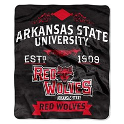 The Northwest Company Arkansas State University Label Raschel Throw