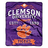The Northwest Company Clemson University Label Raschel Throw