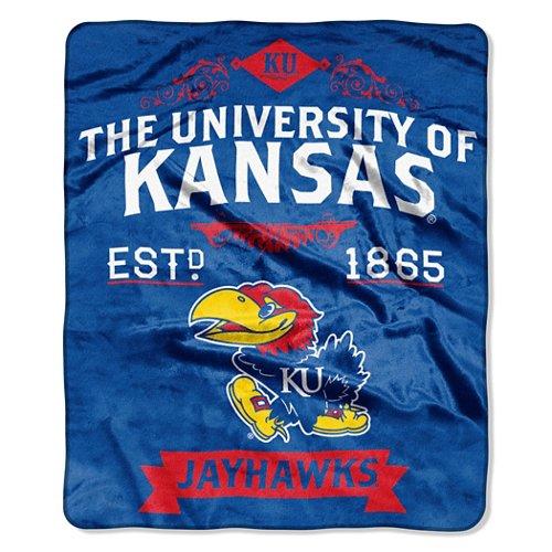 The Northwest Company University of Kansas Label Raschel Throw