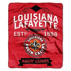 The Northwest Company University of Louisiana at Lafayette Label Raschel Throw