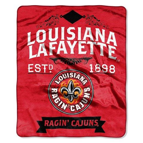 The Northwest Company University of Louisiana at Lafayette Label Raschel Throw