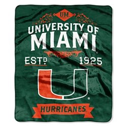 The Northwest Company University of Miami Label Raschel Throw