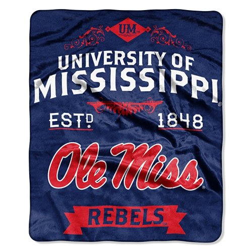 The Northwest Company University of Mississippi Label Raschel Throw