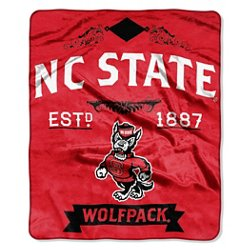 North Carolina State University Label Raschel Throw