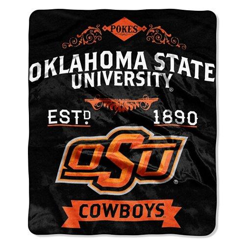 The Northwest Company Oklahoma State University Label Raschel Throw