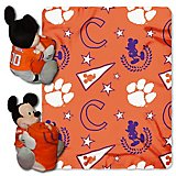 The Northwest Company Clemson University Mickey Mouse Hugger and Fleece Throw Set