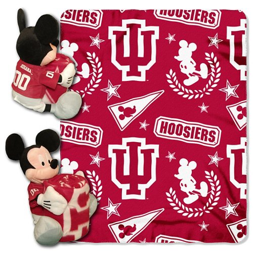 The Northwest Company Indiana University Mickey Mouse Hugger and Fleece Throw Set