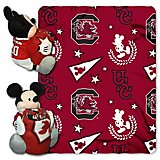 The Northwest Company University of South Carolina Mickey Mouse Hugger and Fleece Throw Set