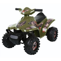 RollPlay Toddler Boys' Camo Mini Quad 6V Ride-On