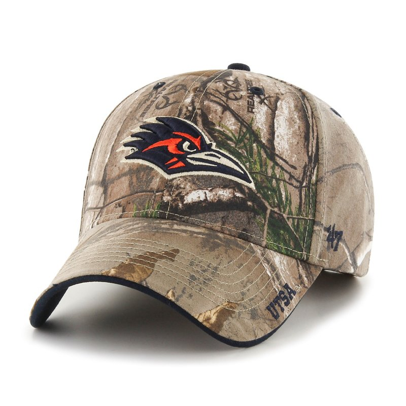 The '47 Adults' University of Texas at San Antonio Realtree Frost Camo MVP Cap features embroidered team logos and a Realtree camo pattern. Available at Academy Sports + Outdoors.