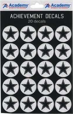 Academy Sports + Outdoors Football Star Decals 20-Pack