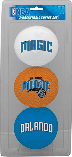 "Jarden Sports Licensing Kids' Orlando Magic 4"" Softee Balls 3-Pack"