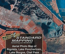 Standard Mapping 346 Northshore - Chef Pass Louisiana Folded Map