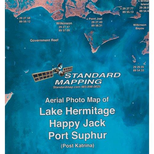 Standard Mapping 353 Lake Hermitage - Happy Jack - Port Sulphur Louisiana Folded Map