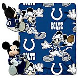 The Northwest Company Indianapolis Colts Mickey Mouse Hugger and Fleece Throw Set