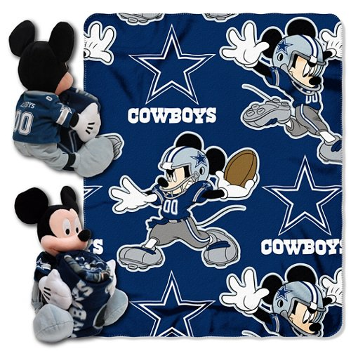 The Northwest Company Dallas Cowboys Mickey Mouse Hugger and Fleece Throw Set