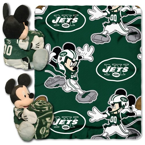 The Northwest Company New York Jets Mickey Mouse Hugger and Fleece Throw Set