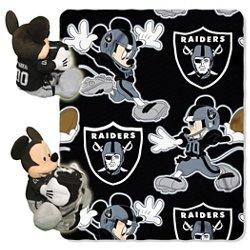 The Northwest Company Oakland Raiders Mickey Mouse Hugger and Fleece Throw Set