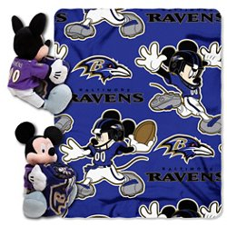 The Northwest Company Baltimore Ravens Mickey Mouse Hugger and Fleece Throw Set