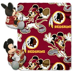 The Northwest Company Washington Redskins Mickey Mouse Hugger and Fleece Throw Set