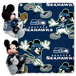 The Northwest Company Seattle Seahawks Mickey Mouse Hugger and Fleece Throw Set