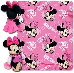 The Northwest Company Chicago Bears Minnie Mouse Hugger and Fleece Throw Set