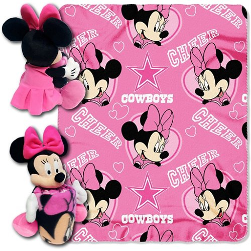 The Northwest Company Dallas Cowboys Minnie Mouse Hugger and Fleece Throw Set