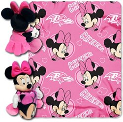 The Northwest Company Baltimore Ravens Minnie Mouse Hugger and Fleece Throw Set