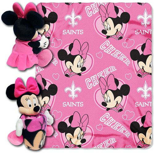 The Northwest Company New Orleans Saints Minnie Mouse Hugger and Fleece Throw Set