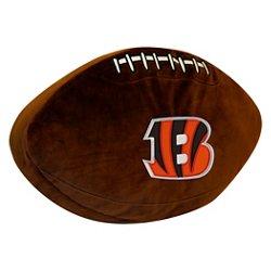 The Northwest Company Cincinnati Bengals Football Shaped Plush Pillow