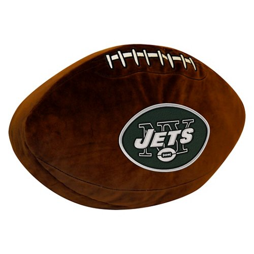 The Northwest Company New York Jets Football Shaped Plush Pillow