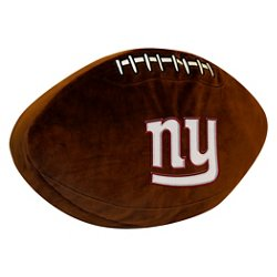 The Northwest Company New York Giants Football Shaped Plush Pillow