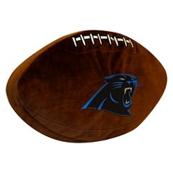 The Northwest Company Carolina Panthers Football Shaped Plush Pillow