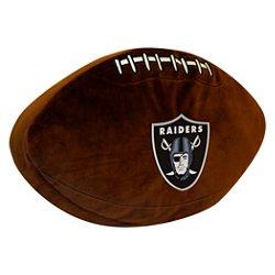 The Northwest Company Oakland Raiders Football Shaped Plush Pillow