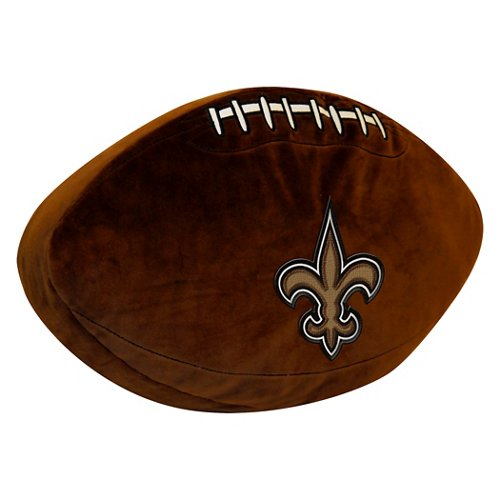 The Northwest Company New Orleans Saints Football Shaped Plush Pillow