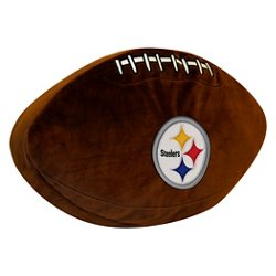 The Northwest Company Pittsburgh Steelers Football Shaped Plush Pillow