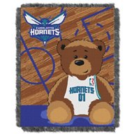The Northwest Company Charlotte Hornets Half Court Woven Jacquard Throw