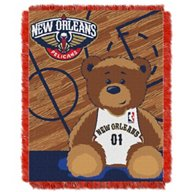 The Northwest Company New Orleans Pelicans Half Court Woven Jacquard Throw