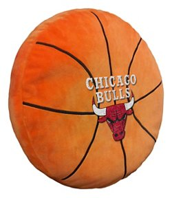 The Northwest Company Chicago Bulls Basketball Shaped Plush Pillow
