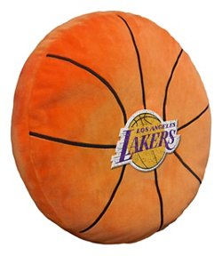 The Northwest Company Los Angeles Lakers Basketball Shaped Plush Pillow