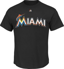 Majestic Men's Miami Marlins Official Wordmark T-shirt