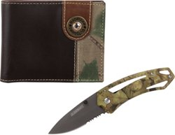 Magellan Outdoors Men's Bifold Wallet and Knife Combo
